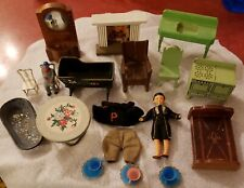 Antique and Vintage Dollhouse Furniture and Accessories + German Bisque Doll