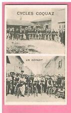 CPA - PONT DE CHERUY - 38 - CARTE PUBLICITAIRE -  CYCLES  COQUAZ - MOTOS FUSILS