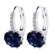 Trendy&Elegant Shining 925 Silver Stud Earrings With Blue AAA Zircon For Women