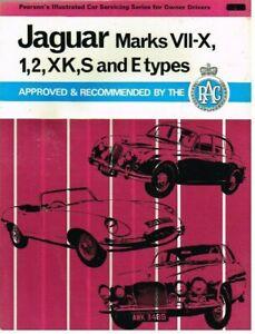 JAGUAR MK1 MK2 MKVII-X XK120 XK140 XK150 S & E TYPE 1950-69 SERVICE MANUAL *VGC*