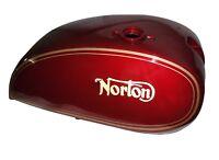 Norton 750 850 Interstate cerise Commando en acier du réservoir de carburant ave