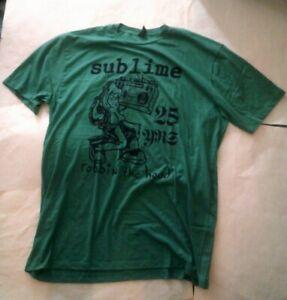Sublime 25 Years Robbin' The Hood T Shirt X Large Green Color Ska Punk Band Rock
