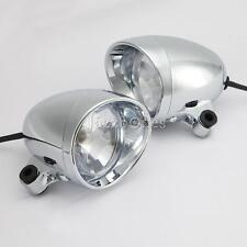 A Pair Motorcycle Custom Passing Headlight Spot Light For Harley Dyna Fatboy
