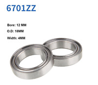 12x18x5 mm 4 PCS Chrome OPEN Metal Ball Bearings 12*18*5 6701 Width 5mm