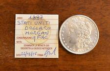 MONETA STATI UNITI 1 DOLLARO MORGAN 1887 ARGENTO sigillata qFDC SUBALPINA