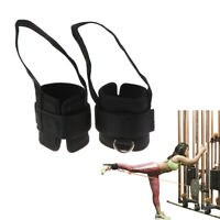1 Pair Fitness Exercise Resistance Band Ankle Straps Cuff Leg Glute Equipm tx