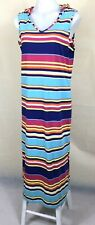 PIPING HOT Women's Colourful Striped Hooded Long Dress Size 14