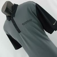 Mens Nike Dri Fit Gray Performance Short Sleeve Casual Golf Polo Shirt Size XL