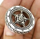 MOTORCYCLE WHEEL STERLING SILVER BIKER NECKLACE PENDANT