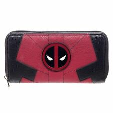 Da Donna Ufficiale Marvel Deadpool Zip Intorno Purse Wallet Clutch-Donna