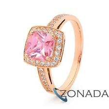 New Classic Simulated Diamond 9ct Rose Gold Cluster Rings R25419/*P