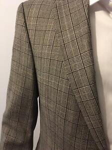 Strellson Anzug kariert Größe 98 grau braun Design Qualität Hipster Hirmer 70er