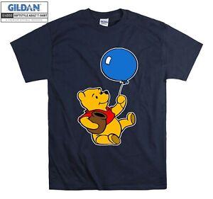 Winnie The Pooh Balloon T-shirt Cartoon T shirt Men Women Unisex Tshirt 3823