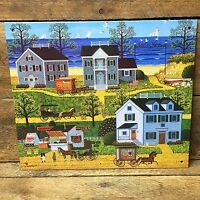 Charles Wysocki Cape Cod Village Gulls Cove Decorative Tin Sign