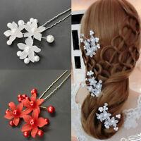 Eg _ Forme-U Mariée Bijou Fleur Perle Synthétique Cheveux Mariage Pince Broche