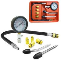 New Gas Engine Compression Tester Testing Gauge Kit Automotive Tool PRO SET AUTO