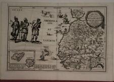 CANARY ISLANDS AZORES ISLANDS CAPE VERSE WEST AFRICA 1702 SCHERER ANTIQUE MAP