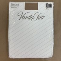 Vintage Vanity Fair Womens Thigh High Stockings Nude USA Size D 10.5 -11