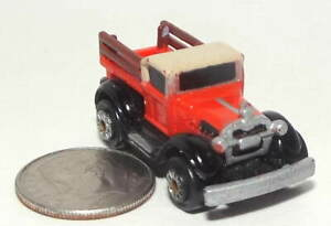 Small Micro Machine plastic Ford Model T Pickup truck in Red