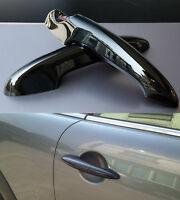 x2 GLOSS BLACK New MINI Cooper S Door Handle Cover Trims R50 R52 R53 R55 R56 R57