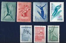 LOT de 7 TIMBRES thème JEUX OLYMPIQUES  Bulgarie Yougoslavie oblitérés