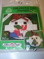 NEW CHILDREN PAINTED WOOD RIBBON KIT CHRISTMAS HOLIDAY PATTERN TREE ORNAMENT