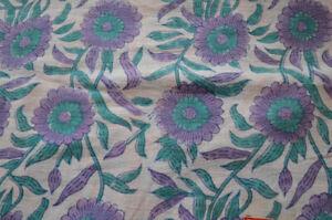 100% Cotton Handmade Indian Floral Print Dressmaking Craft Sewing 5 Yard Fabric
