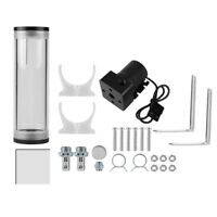 PC Water Cooling 160mm Tank Cylinder Reservoir Pump Combo Set 19W 12V 800L/H TP