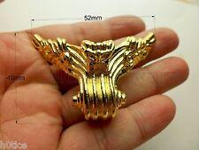 "4 Pcs Golden 52mmX40mm ""Butterfly"" decoration jewelry metal box feet,box legs"