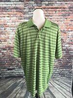 IZOD Men's Cool FX Polo Shirt - Size XL - Green Short Sleeve Shirt