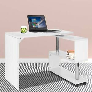 S-Shaped 360° Corner Computer Desk Compact Table Home Office Study Corner Desk
