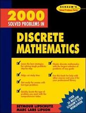 2000 Solved Problems in Discrete Mathematics by Lipschutz, Seymour