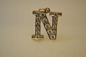 """9ct Initial """" N """" Pendant"""
