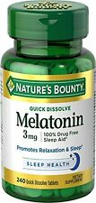 Nature's Bounty Melatonin 3 mg, 240 Quick Dissolve Tablets Each