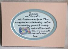 FAMILY PRICELESS TREASURE Comfort SECURITY Quilts Wrap LOVE verses poems plaques