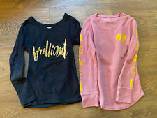 Old Navy girls long sleeve tees set of two size 6-7