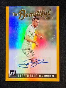 2018-19 Donruss The Beautiful Game Autographs Gold Gareth Bale AUTO 10/10