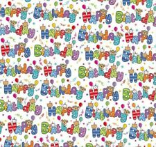 2 Sheets Gift Wrapping Paper HAPPY BIRTHDAY Kids Boy Girl Men Ladies Fun