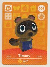 Animal Crossing amiibo Card: Timmy 008 SP (Series 1) Misprint Error First Print