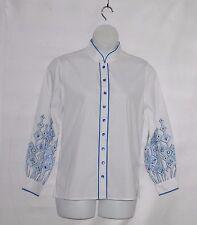 Bob Mackie Embroidered Sleeve Shirt Size M White
