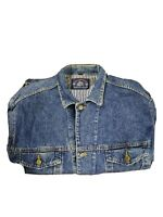 Vintage Men's Denim Jacket Montana Western Thick Heavy Jeans Coat USA Style