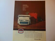1957 REMINGTON STATESMAN TYPEWRITER Speed & Performance vintage art print ad
