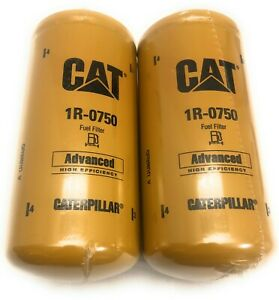 2 Pack of New and Genuine CAT 1R-0750 Fuel Filter Caterpillar 1R0750 Free Ship