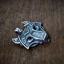 Mens Retro Stainless Steel Wolf Animal Head Pendant Necklace Chain Gift Fashion
