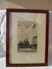 Eau forte , Ancien Paris La Tour du Temple La Rotonde  Adolphe Martial Potemont