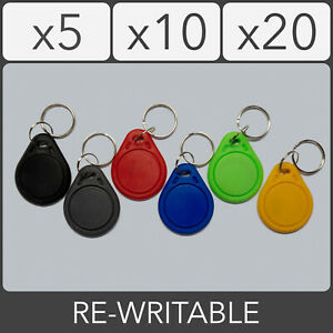 13.56MHz Fudan Re-Writable 1K RFID IC Key fob S50 Proximity ID Tag Keychain