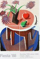 David Hockney , ORIGINAL EXHIBITION POSTER/ PRINT (1988), Fiesta 88'