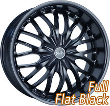 "OX631 20"" Stagger Blank Full Flat Black Alloy Wheels Mag for most vehicles"