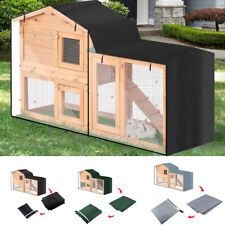 Wooden Pet Rabbit Hutch Bunny Guinea Pig Ferret Run Wood House Cage Dust Cover
