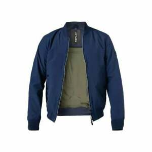 Replay Polyester Bomber Style Navy Jacket